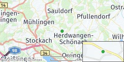 Google Map of Hohenfels bei Stockach
