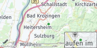 Google Map of Staufen im Breisgau