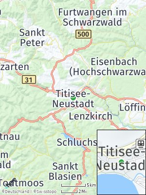 Here Map of Titisee-Neustadt