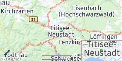 Google Map of Titisee-Neustadt