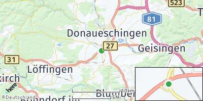 Google Map of Hüfingen