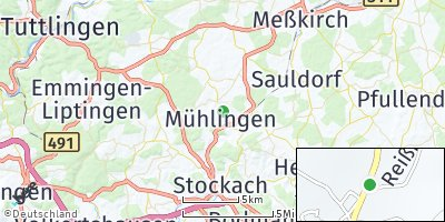 Google Map of Mühlingen