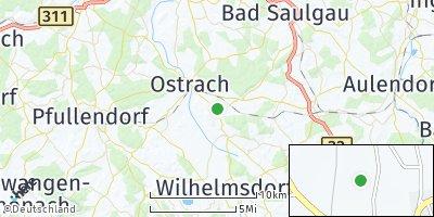 Google Map of Königseggwald