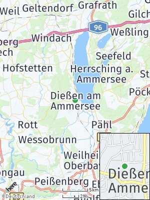 Here Map of Dießen am Ammersee