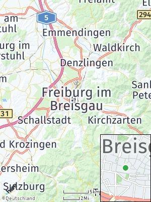 Here Map of Freiburg im Breisgau