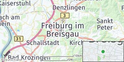 Google Map of Freiburg im Breisgau