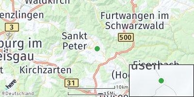 Google Map of Sankt Märgen