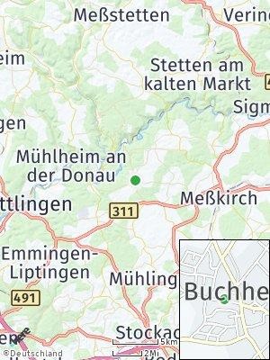 Here Map of Buchheim bei Meßkirch