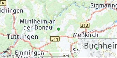 Google Map of Buchheim bei Meßkirch