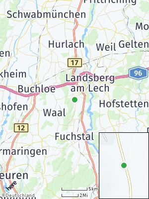 Here Map of Mittelstetten am Lech