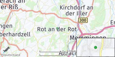 Google Map of Rot an der Rot