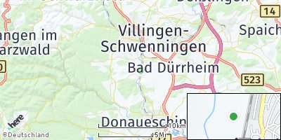 Google Map of Brigachtal
