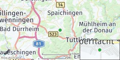 Google Map of Seitingen-Oberflacht