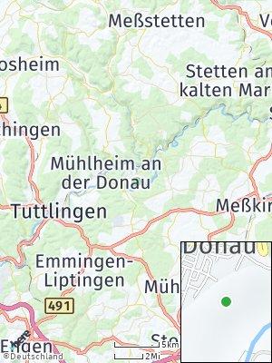 Here Map of Fridingen an der Donau