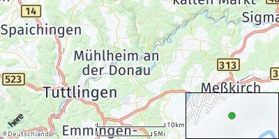 Google Map of Fridingen an der Donau