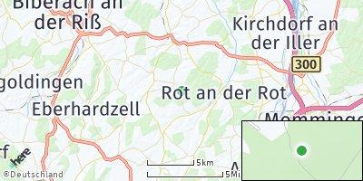 Google Map of Steinhausen an der Rottum