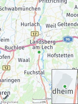 Here Map of Friedheim am Lech