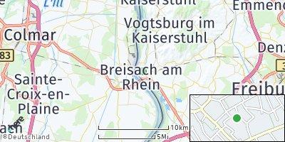Google Map of Breisach am Rhein