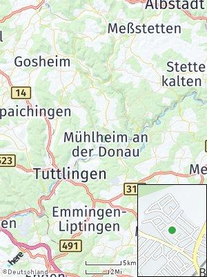 Here Map of Mühlheim an der Donau