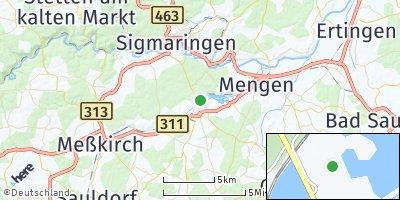 Google Map of Krauchenwies