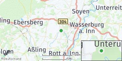 Google Map of Pfaffing an der Attel