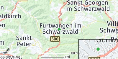 Google Map of Furtwangen im Schwarzwald