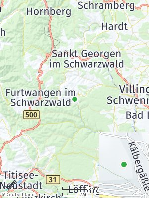 Here Map of Vöhrenbach