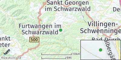 Google Map of Vöhrenbach
