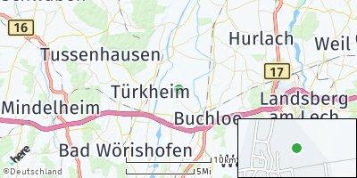 Google Map of Amberg bei Buchloe