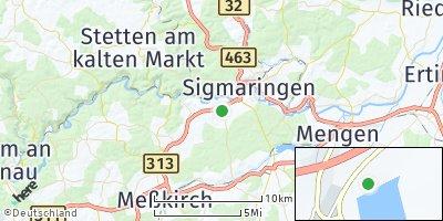 Google Map of Inzigkofen