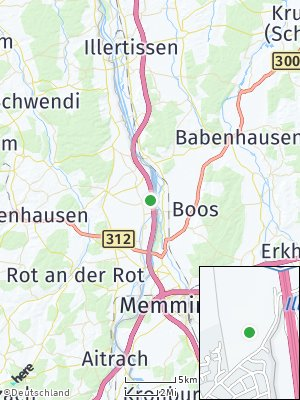 Here Map of Kirchdorf an der Iller