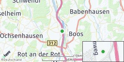 Google Map of Kirchdorf an der Iller