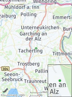 Here Map of Feichten an der Alz