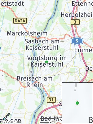 Here Map of Vogtsburg im Kaiserstuhl