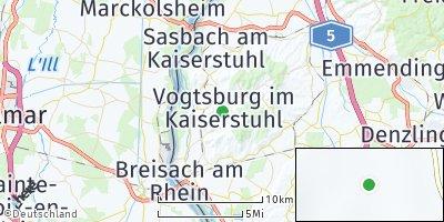 Google Map of Vogtsburg im Kaiserstuhl