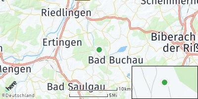 Google Map of Kanzach bei Bad Buchau