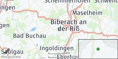 Google Map of Mittelbiberach