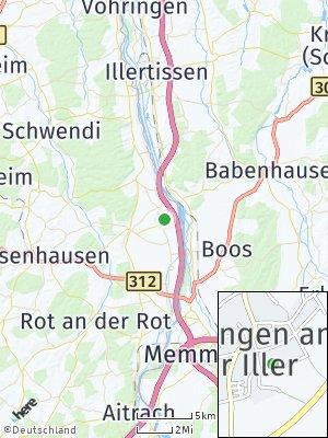 Here Map of Dettingen an der Iller