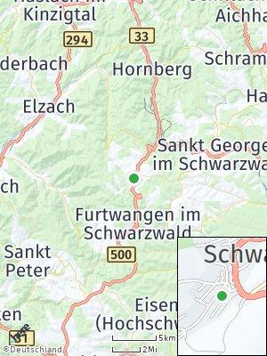 Here Map of Schönwald im Schwarzwald