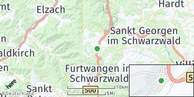 Google Map of Schönwald im Schwarzwald