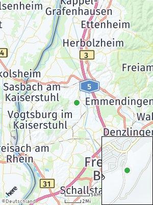 Here Map of Bahlingen am Kaiserstuhl