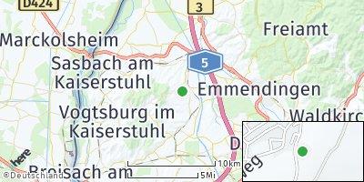 Google Map of Bahlingen am Kaiserstuhl