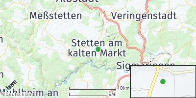 Google Map of Stetten am kalten Markt