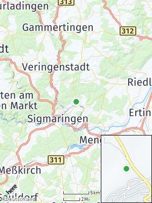 Here Map of Bingen bei Sigmaringen