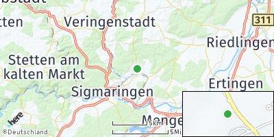 Google Map of Bingen bei Sigmaringen