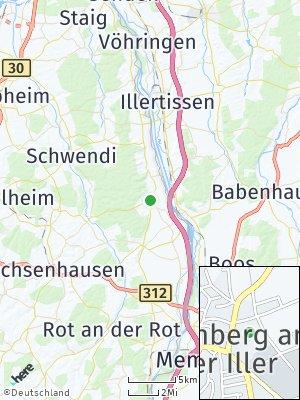 Here Map of Kirchberg an der Iller