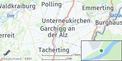 Google Map of Garching an der Alz