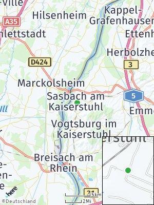 Here Map of Sasbach am Kaiserstuhl