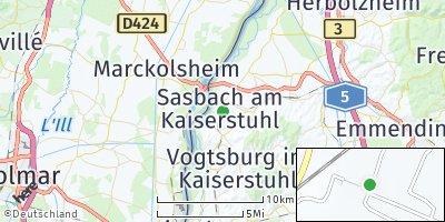 Google Map of Sasbach am Kaiserstuhl