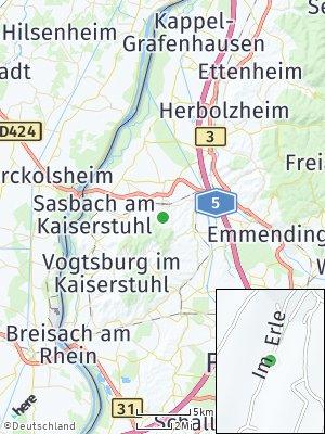 Here Map of Endingen am Kaiserstuhl